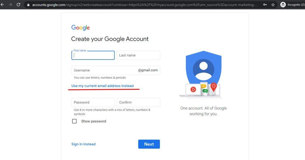Povezivanje već postojeće adrese sa Gmailom