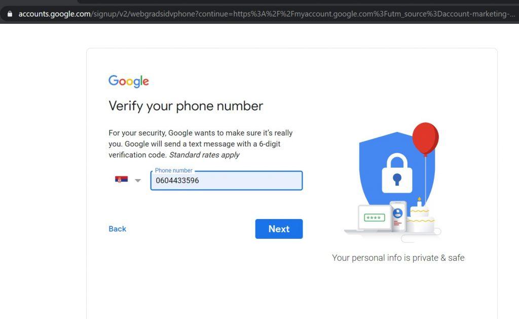 Verifikacija telefona