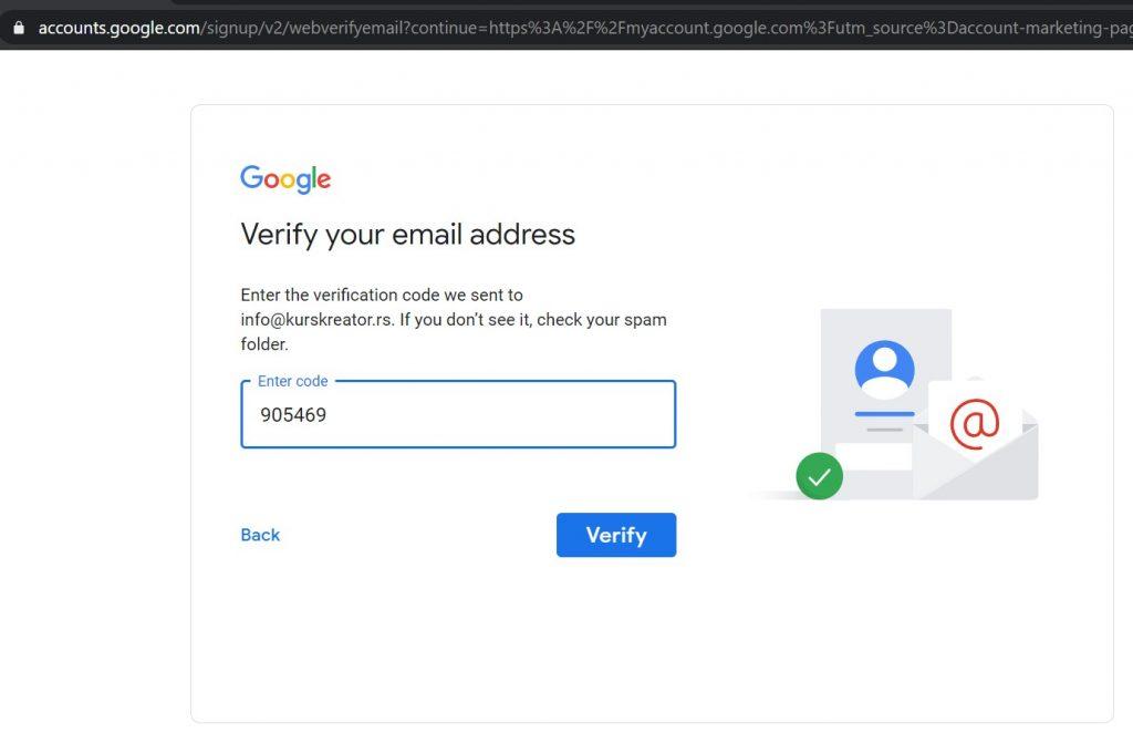 Verifikacija maila